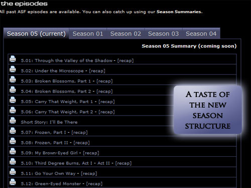 Taste of Season 5 Structure
